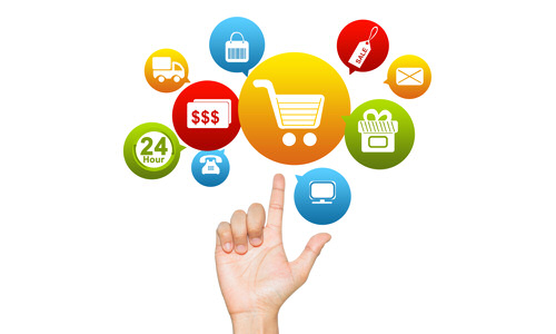 Ecommerce | Website Design Diagram finger pointing up