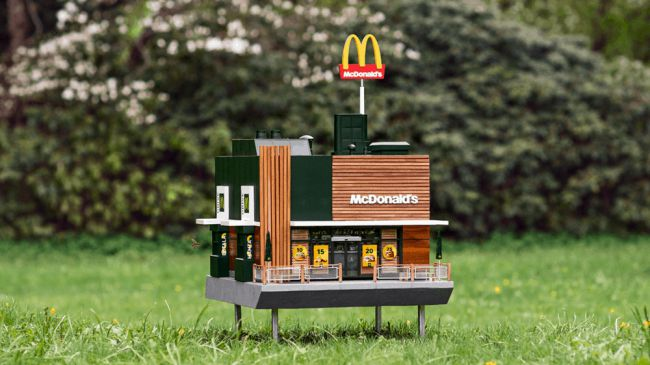 Worlds smallest McDonalds opens for bees – and its amazing